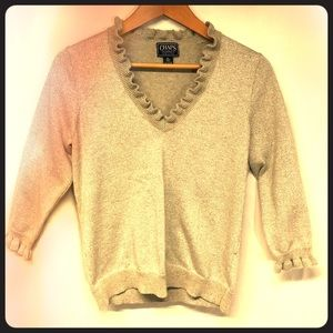 Chaps Gold Sparkle Sweater